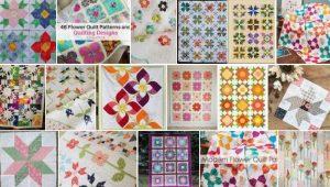 Easy flower quilt patterns